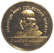 Token - Franklin Mint Collectors Society Charter Member – obverse