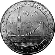 Token - 1939 Golden Gate International Expo (Union Pacific ALCOA Aluminum) – obverse