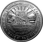 Token - 1939 Golden Gate International Expo (Union Pacific ALCOA Aluminum) – reverse