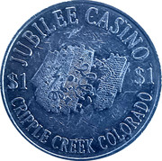 1 Dollar - Jubilee Casino (Cripple Creek,  Colorado) – obverse