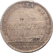 Token - Louis XV (Trésor royal; SIBI CREDITA REDDIT) – reverse