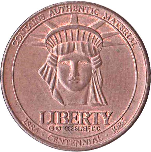 Token - Sears Celebrating 100 Years Statue of Liberty