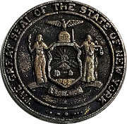 Token - The Great Seal of the State of New York – obverse