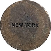 Token - The Great Seal of the State of New York – reverse