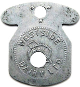 1 Quart - Westside Dairy Ltd. – obverse