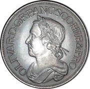 1 Shilling - Oliver Cromwell (replica) – obverse