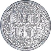 Telephone Token - Telefone Público (Org Cost) – obverse