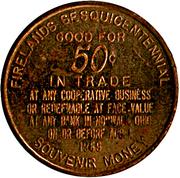 50 Cents - Firelands Sesquicentennial – reverse