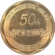 50 Cents - North Kansas City, Missouri – obverse
