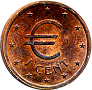 1 Euro Cent (Churriana) – obverse