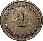 Toll Token - Halifax-Dartmouth Bridge Commission (Class 4 vehicle; 16 mm) – reverse