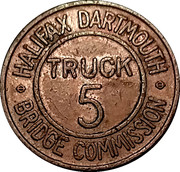 Token - Halifax Dartmouth Bridge Commission (Truck 5) – obverse