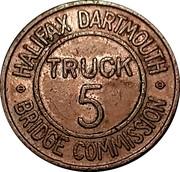Token - Halifax Dartmouth Bridge Commission (Truck 5) – obverse