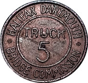 Token - Halifax Dartmouth Bridge Commission (Truck 5) – reverse