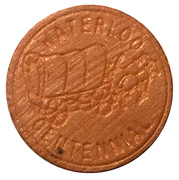 Wooden Nickel - Waterloo Centennial 1857-1957 – obverse