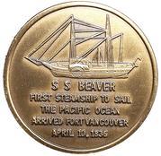 Token - Vancouver, Washington (Voyage of S.S. Beaver) – reverse