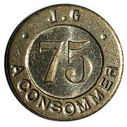 75 Centimes - J. G – obverse