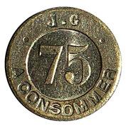 75 Centimes - J. G – reverse