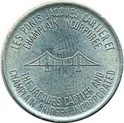 Token - The Jacques Cartier and Champlain Bridges Inc. (Verdun, Quebec) -  obverse