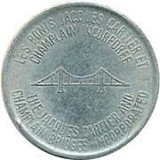 Token - The Jacques Cartier and Champlain Bridges Inc. (Verdun, Quebec) -  reverse