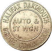 Token - Halifax Dartmouth Bridge Commission Auto & St Wgn – obverse