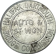Token - Halifax Dartmouth Bridge Commission Auto & St Wgn – reverse