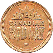 Token - Great Canadian Midway – obverse