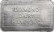 1 Quart - Diamond Dairy (Haney, B.C.) – obverse