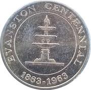 50 Cents - Evanston Centennial (Evanston,  Illinois) – obverse