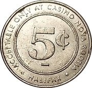 5 Cents - Casino Nova Scotia (Halifax) – reverse