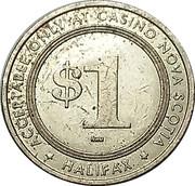 1 Dollar - Casino Nova Scotia (Halifax) – reverse