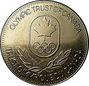 Token - Olympic Trust of Canada (Bobsleigh) – reverse