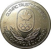 Token - Olympic Trust of Canada (Luge) – reverse