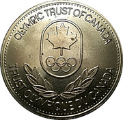 Token - Olympic Trust of Canada (Speed Skating) – reverse