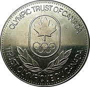 Token - Olympic Trust of Canada (Swimming) – reverse