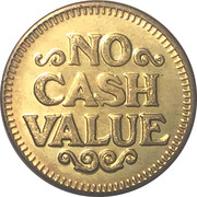 Laundry Token (No Cash Value) – reverse