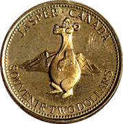 2 Souvenir Dollars - Jasper, Alberta – reverse
