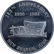 Token - New Sharon, Iowa (125th Anniversary) – obverse