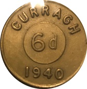 6 Pence - Curragh Internment Camp – obverse
