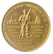 Medallion - Ontario Mining Industry  (Canadian Centennial; Brass) – obverse