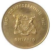 Medallion - Ontario Mining Industry  (Canadian Centennial; Brass) – reverse
