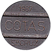 Telephone Token - COTAS (with date) – obverse