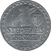 1 Stephansgroschen (Oberosterreich) – reverse
