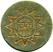 Telephone Token - CAT – obverse