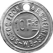 10 Francs - S.C. Soc. Econ. & B.S. Reunies W.B. (Brewery token) – obverse