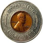 Encased Token - Motor Medic Lucky Piece – obverse