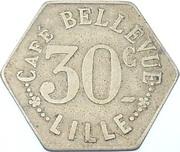 30 Centimes - Café Bellevue (Lille) – obverse
