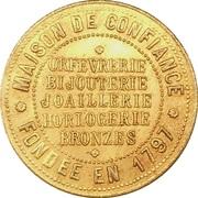Token - Bijouterie A la Gerbe d'Or (Paris) – reverse