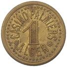 1 Franc - Casino Palmiers (Alger) – obverse