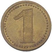1 Franc - Casino Palmiers (Alger) – reverse